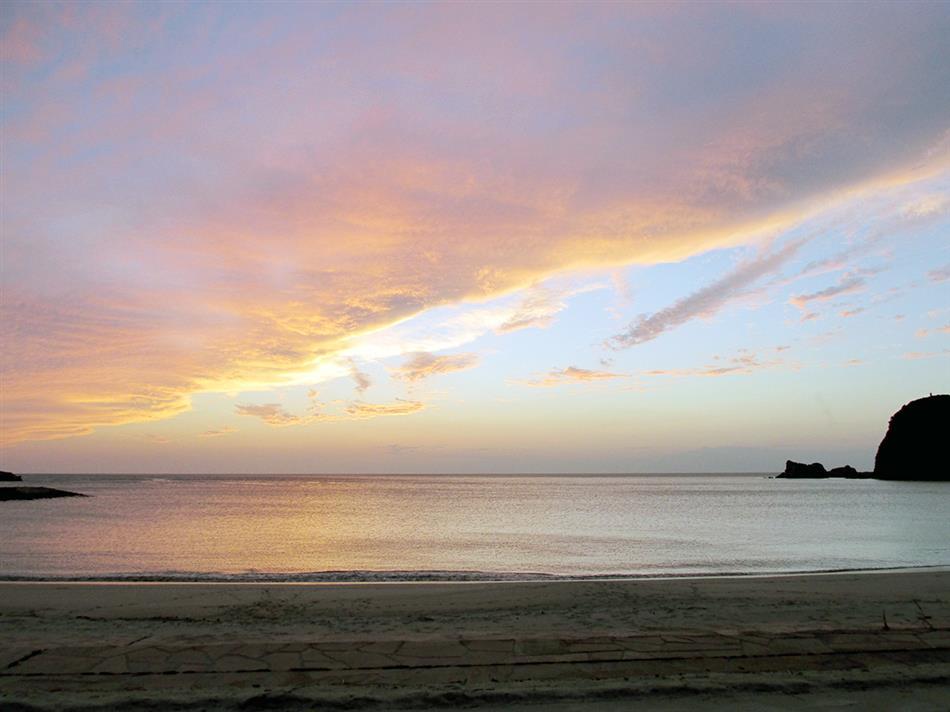 白鶴浜の夕日 ①