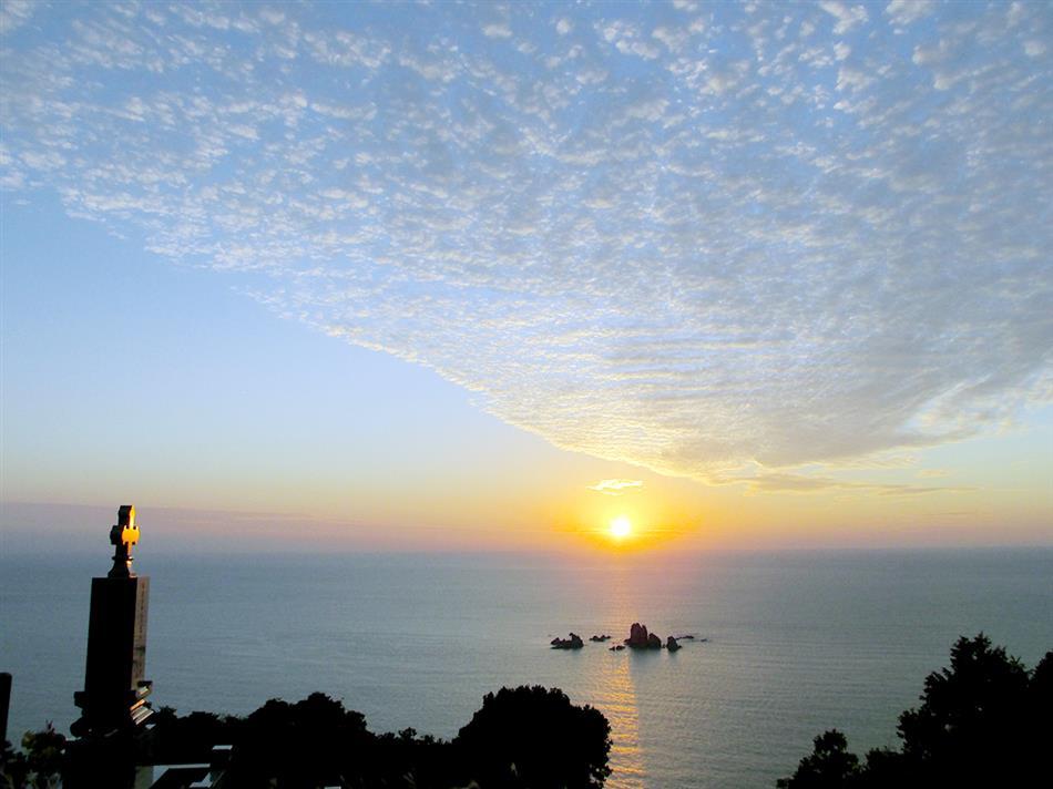 西平の夕日