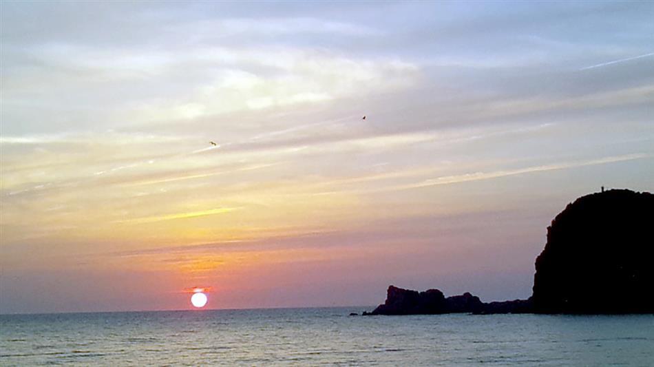 白鶴浜の夕日 ②